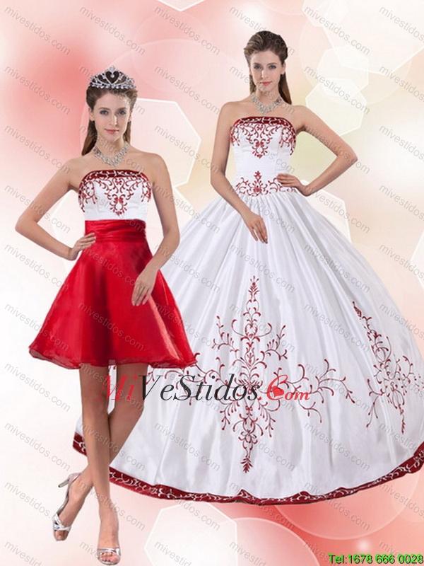266c47de9 Bastante sin tirantes 2015 Perfecto vestido de quinceañera con Bordado.  triumph