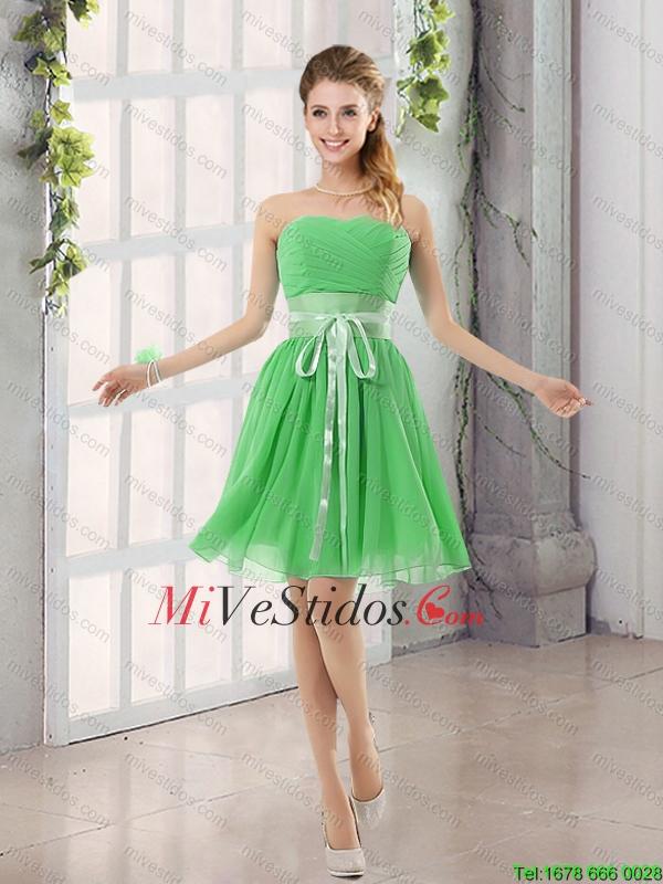 6def50a44 Perfecto Cinturón acanalar cari o una línea de vestido de dama de ...