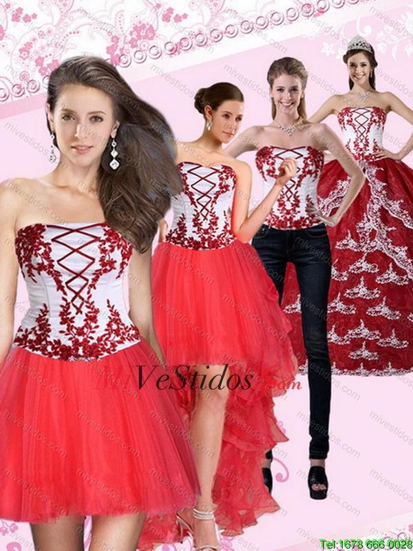 db2dfed08 Multi Color sin tirantes vestido de quinceañera con Bordado de 2015. triumph