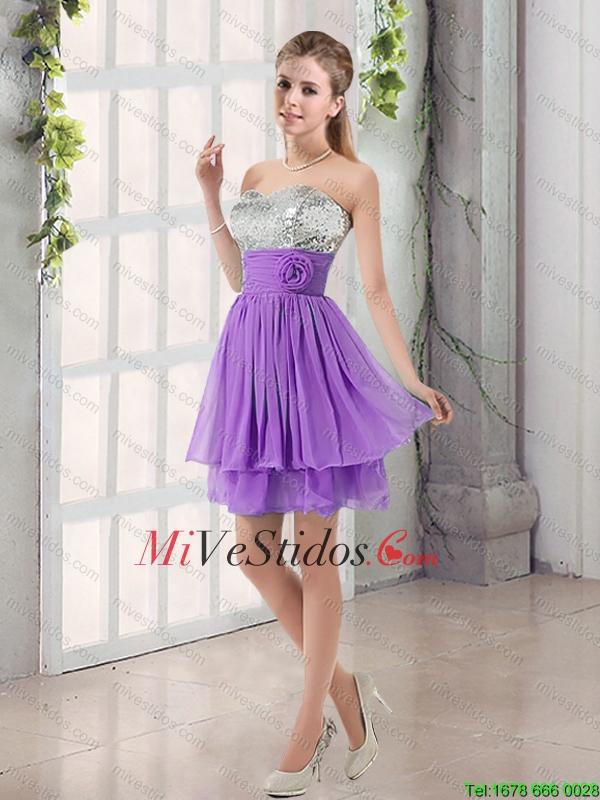 Cari?o una línea de vestidos de dama de honor con lentejuelas y ...