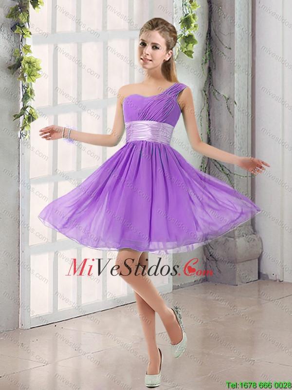Natural de un hombro una línea acanalar ata para arriba el vestido ...