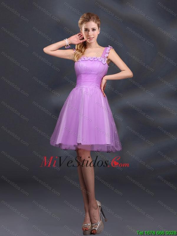 394b49f043 €180.95 €68.95  Elegante una línea de correas lila Dama de honor con  apliques
