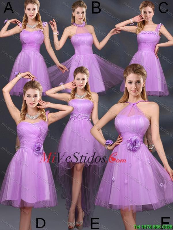 2015 Lilac Hecho a mano flores Una línea de un hombro vestidos de ...