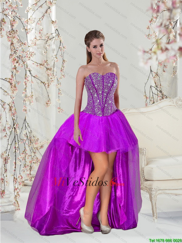 Más populares rebordear mini vestidos de baile en púrpura - €134.16