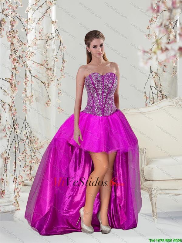 Hermosa Vestidos De Fiesta De Alta Bajas Ideas Ornamento Elaboración ...