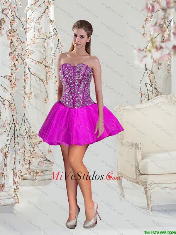 2015 y acc fucsia vestidos de baile Hermosa altas bajas - €153.46