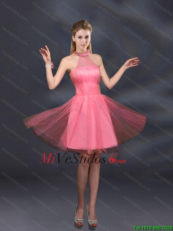 Hermosas lila A vestidos de dama de honor con la línea Appliques ...