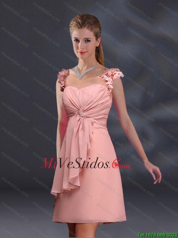 2015 acanalaba gasa vestidos de dama en Melocotón - €86.34