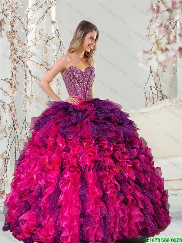 2015 desmontables multi del color membrillo Vestidos con rebordear y ...