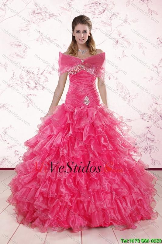 2015 elegante del amor de las rosas Vestidos de quinceañera con ...