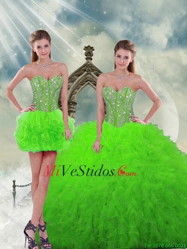 Vestidos de 15 de color verde menta