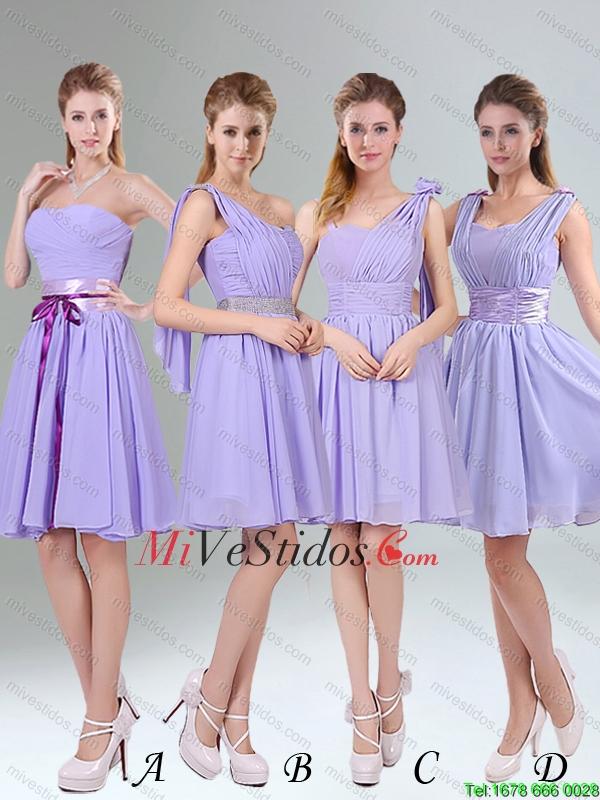 2015 Sassy con cuentas y con pliegues vestido corto de dama de honor ...