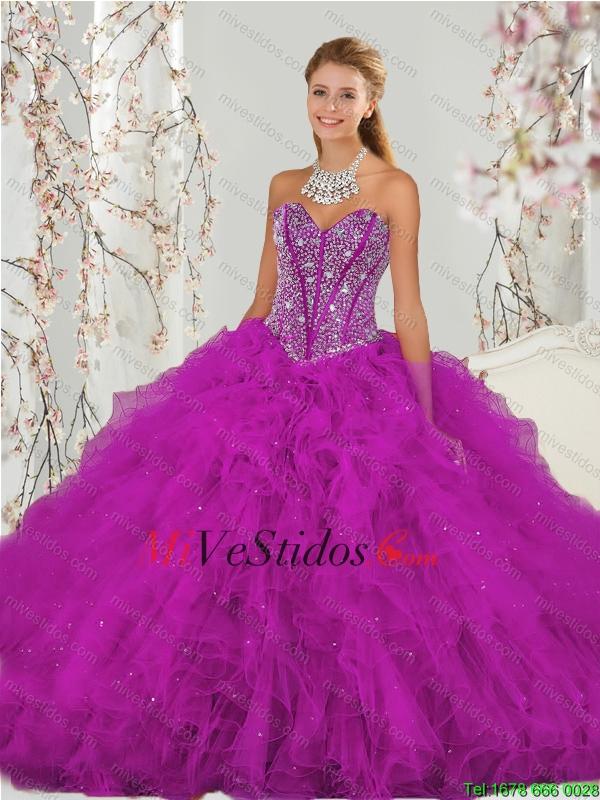 Bola de lujo de novia vestido de puntillas y Ruffles Sweet 16 ...