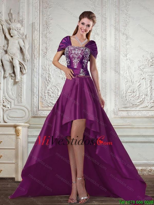 Hermosa Oscuros Vestidos De Cóctel Púrpura Colección - Vestido de ...