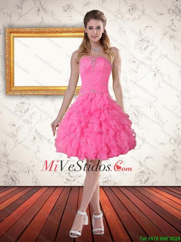 Vestido de fiesta de novia hermosa rosa de bebé con apliques y capas ...