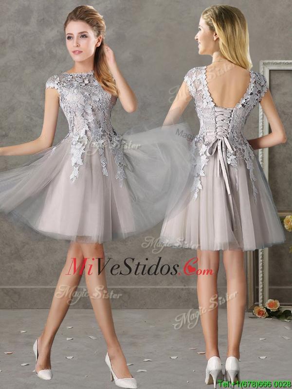 Vestidos para damas de honor color gris