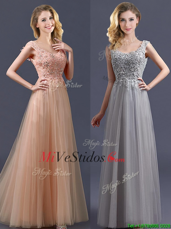 vestido de dama color gris | new quinceanera dresses