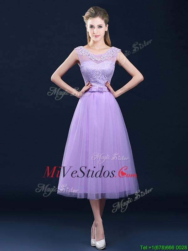 Ver popular a través del vestido de la dama de honor de la correa y ...