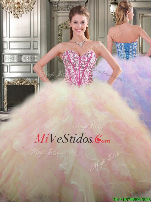 Grande encantador hinchado vestido de quinceañera de tul con ...