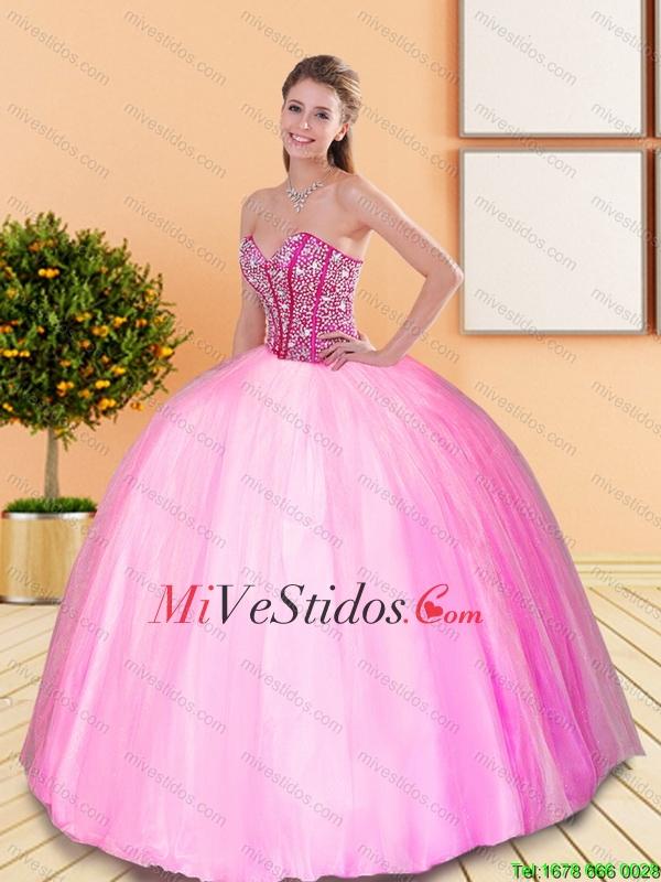 Exclusivo rebordear vestido de novia quinceañera para 2016 Primavera ...