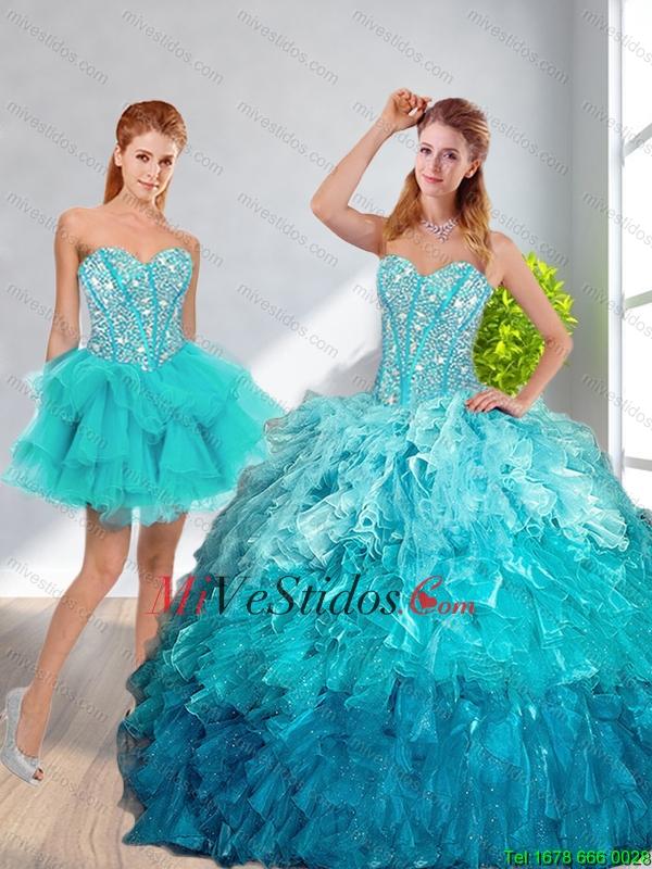 5b539d4487 Modernos 2016 novio desmontables Vestidos de quinceañera en Multi Color.  triumph