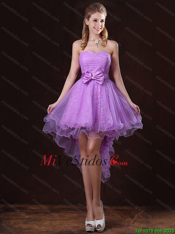 dama con mangas lila | new quinceanera dresses