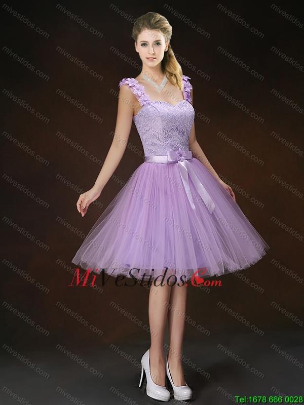 Apliques de lujo y Bowknot Dama Vestidos con correas - €75.19
