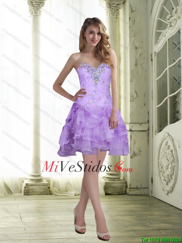 vestido corto color lila | new quinceanera dresses