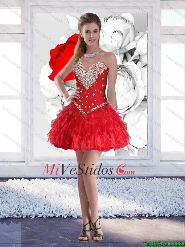 vestidos color coral cortos 2016