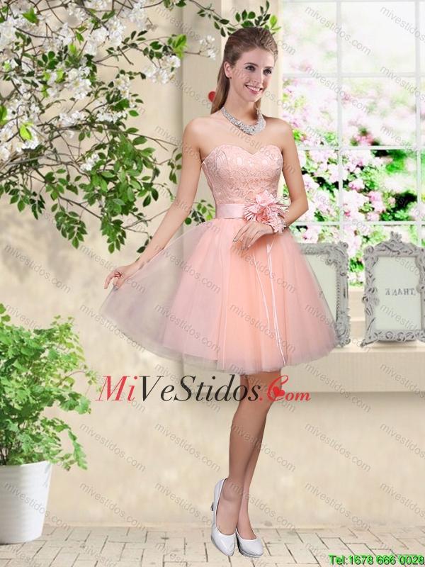 Elegante del amor del bebé de color rosa vestidos de dama de honor ...