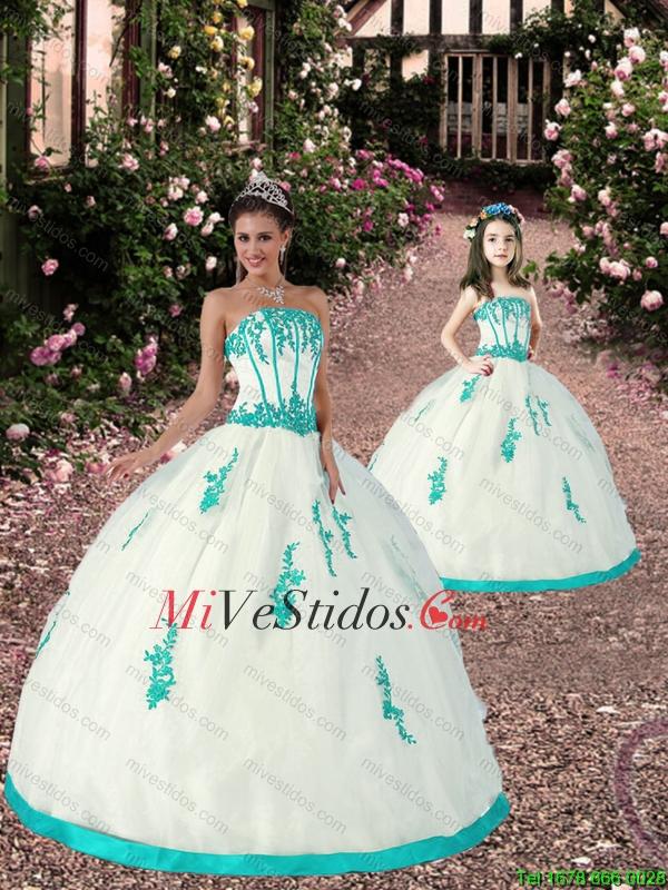 color blanco y turquesa | new quinceanera dresses