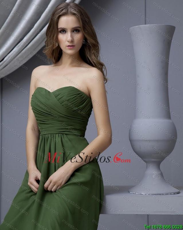 Vestido verde olivo formal