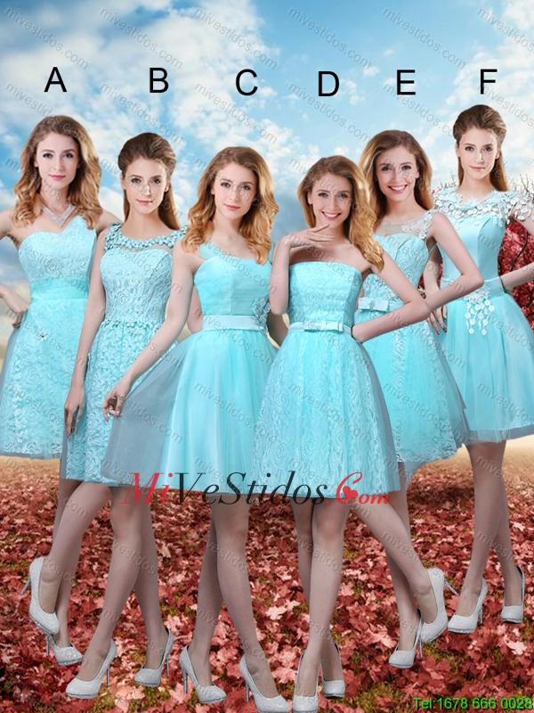 2ca52c4ed 306.89 € 147.23  Verano hermoso una línea vestidos de dama de honor con la  correa en Azul Aqua