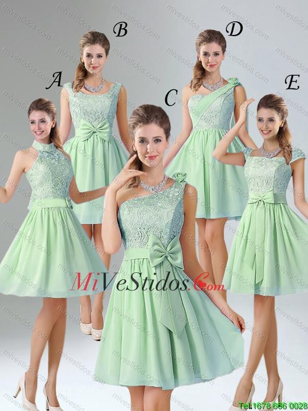 Vestidos verde manzana cortos