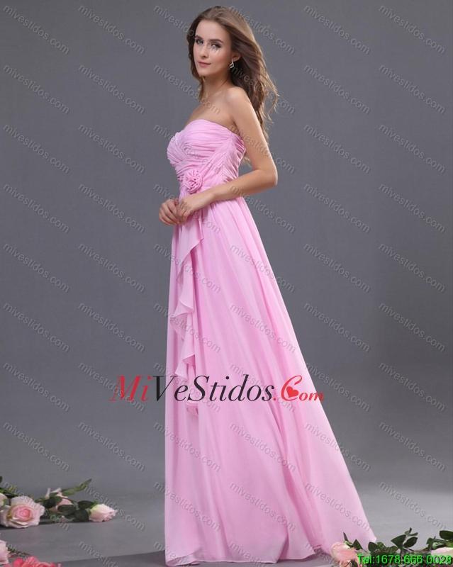 Fruncido Modesto y hecho a mano vestido de flores Dama en rosa rosa ...