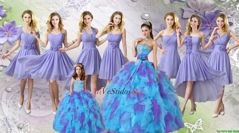Elegante Multi color Tul Vestidos de quinceañera y encantadores del ...