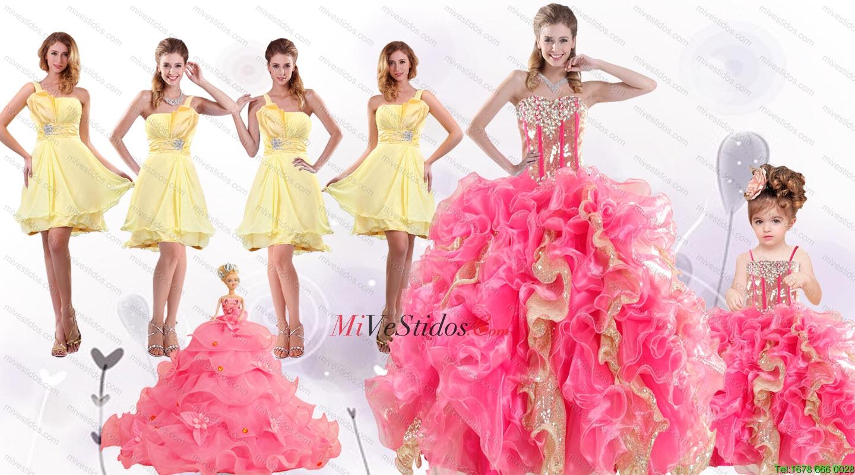 vestidos de dama para quinceañera | new quinceanera dresses