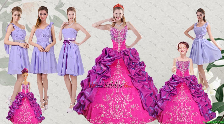 Multi Color Bordados y burbujas vestido de Quinceanera y acanalaba ...