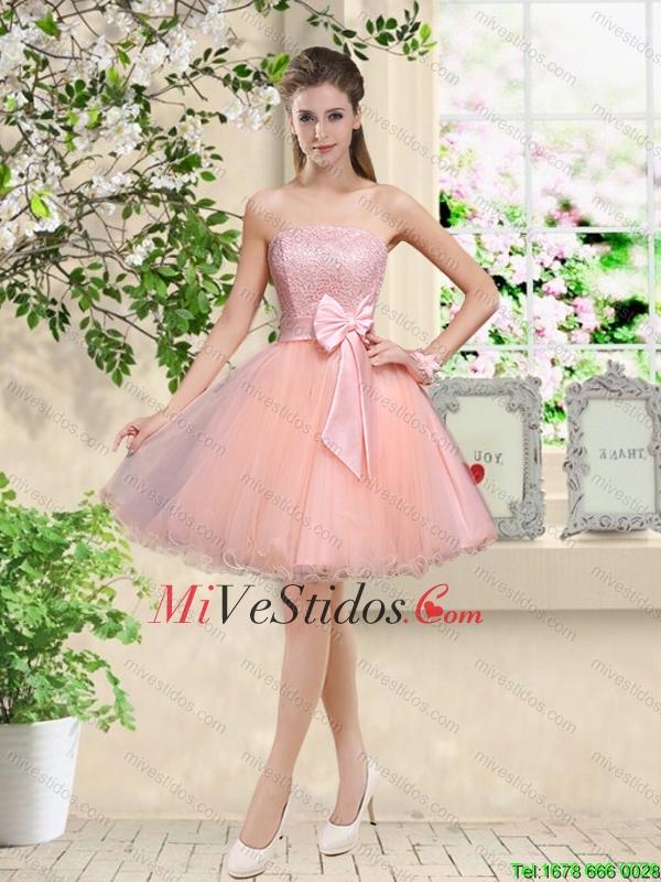 Descuento del hombro Hecho a mano Flores vestidos de dama de rosa de ...