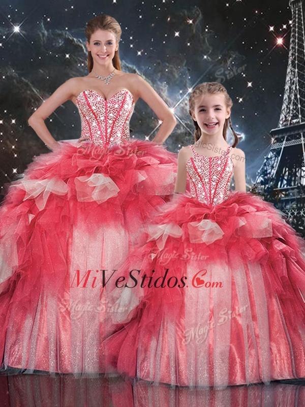 Moda Puffy cariño rebordear Macthing hermanas vestidos para el ...
