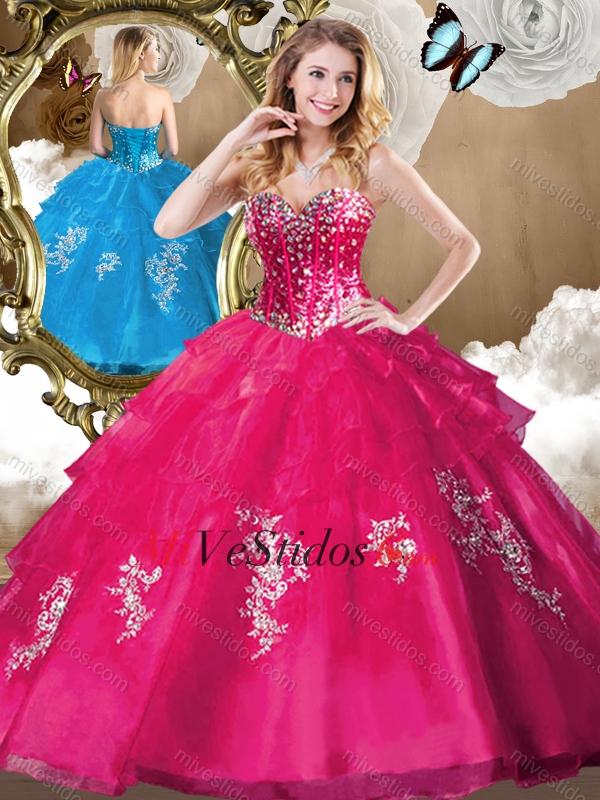 7c9a6e929e Elegante rebordear Vestidos de quinceañera con apliques de 2016. triumph
