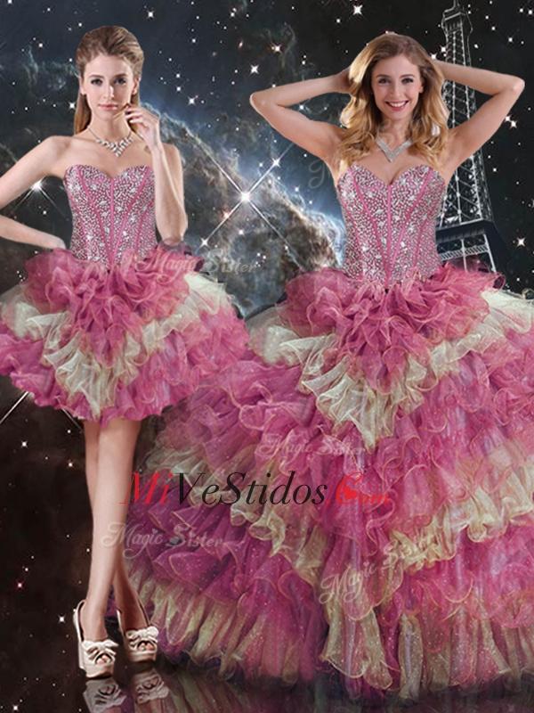 2016 Hermosas balón vestido de novia desmontable dulce16 vestidos ...