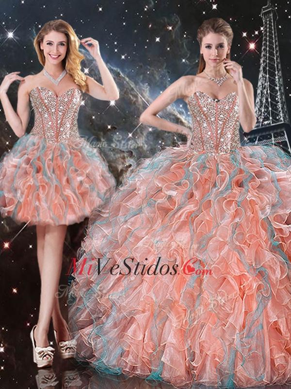 2016 Moda vestido de fiesta novia desmontable dulce 16 Vestidos para ...