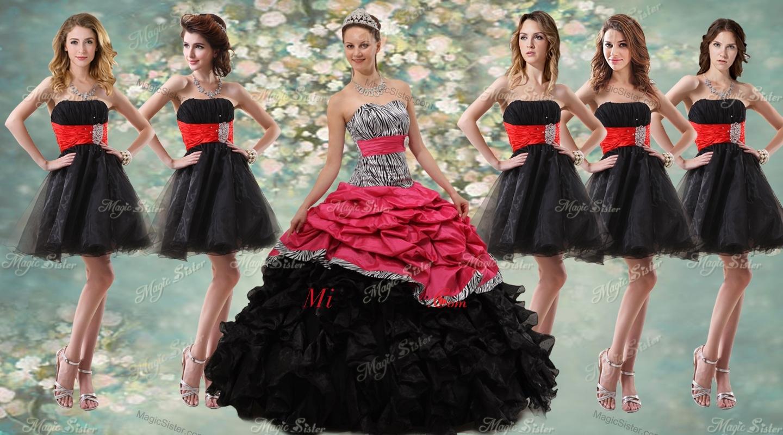 Vestidos de dama negro