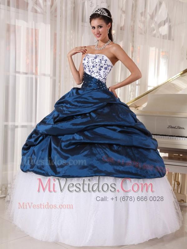 7c1603b08 €305.47 €152.64  Hermoso Vestido De Fiesta Estrapless Hasta El Suelo Tafetán  Y Tul Bordado Vestido De Quinceañera