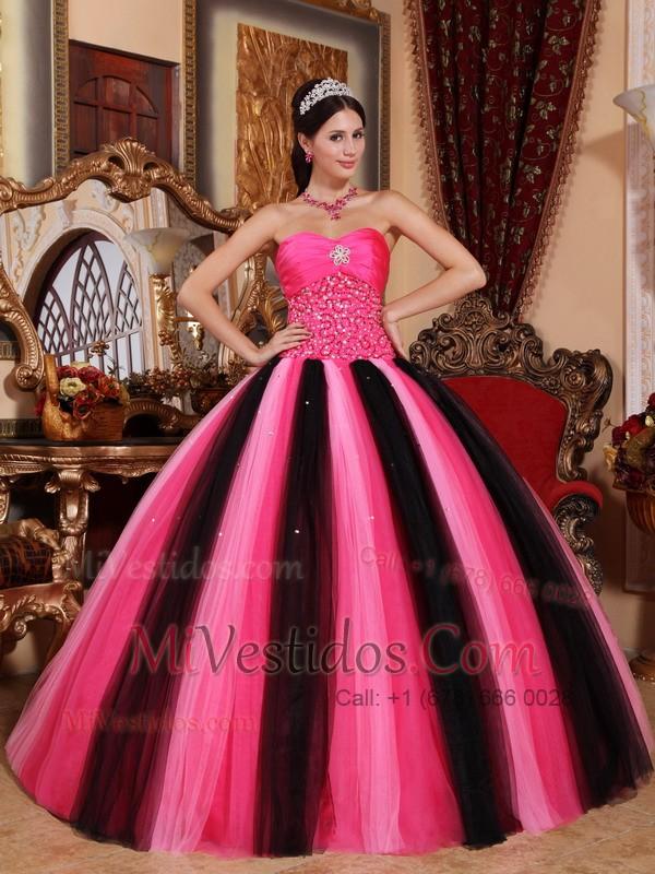 Multi-colored Vestido De Fiesta Dulceheart Hasta El Suelo Tul ...