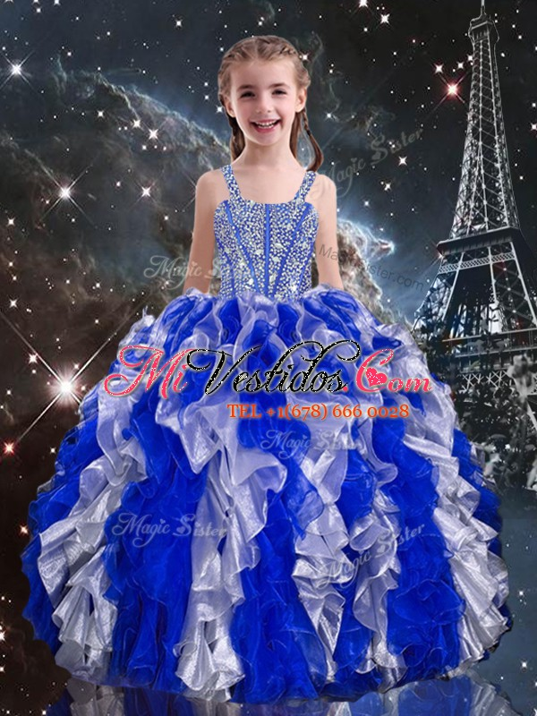 Los vestidos dramáticos de la longitud del piso los vestidos azules ...