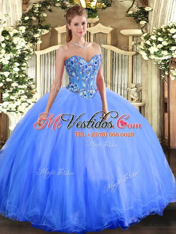 576c29cf1 Moderno vestido azul dulce de 16 bolas militares y dulce de 16 años ...