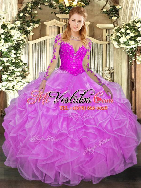 Vestido de fiesta extravagante de encaje y volantes vestido de ...