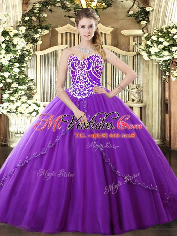 Trajes de baile Chic tren vestido dulce 16 vestido de novia púrpura ...